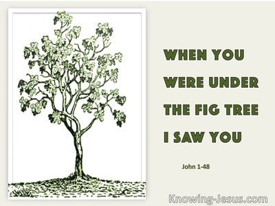 John 1:48 SAGE – When Thou Wast Under The Fig Tree I Saw Thee (beige)