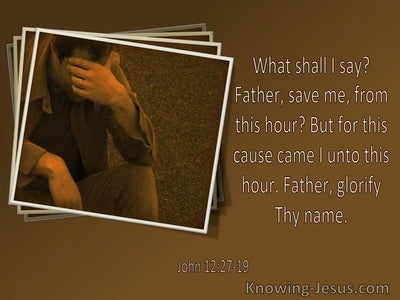 John 12:27 It Was For This Cause I Came Unto This Hour (utmost)06:25