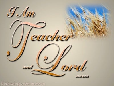 John 13:13 I Am Teacher And Lord (brown)