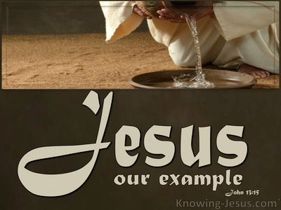 John 13:15 Jesus Our Example (beige)