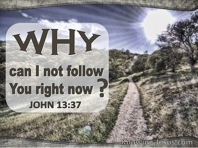 John 13:37 Why Can I Not Follow You (sage)