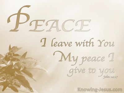 John 14:27 His Perfect Peace (devotional)06:26 (beige)