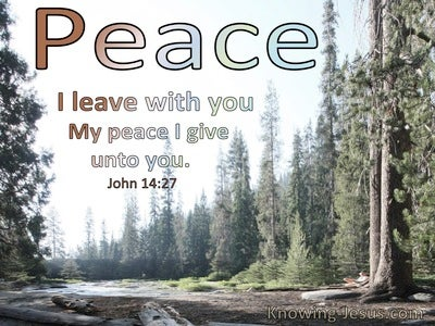 John 14:27 Peace I Leave With You (utmost)08:26