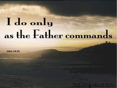 John 14:31 I Do Only As The Father Commands (beige)