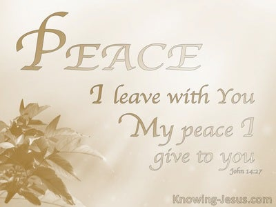 John 14:37 Perfect Peace (devotional) (beige)