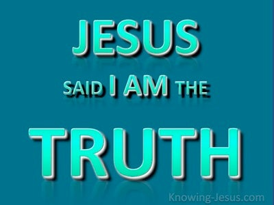 John 14:6 Jesus Said I Am The Truth (aqua)
