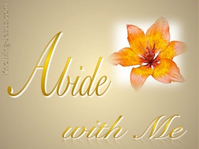 Abide With Me (devotional)10-07 (gold)