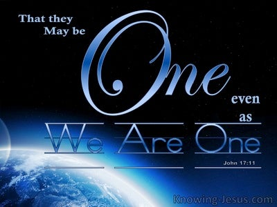 John 17:11 That They May Be One (blue)