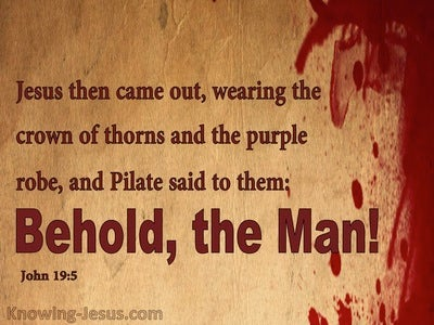 John 19:5 Behold The Man (brown)