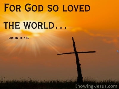 John 3:16 God So Loved The World (orange)