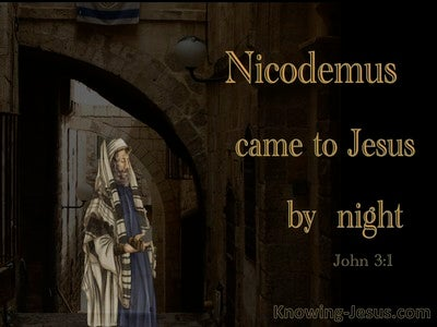 John 3:2 Nicodemus Came To Jesus By Night (orange)