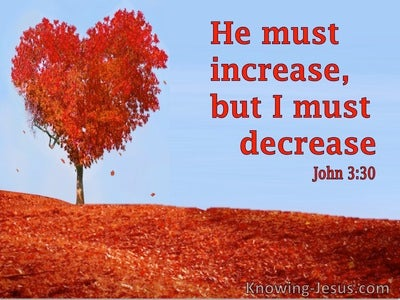 John 3:30 He Must Increase But I Must Decrease (utmost)03:24