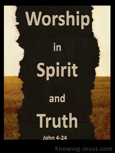 John 4:24 Worship In Spirit And Truth (brown)