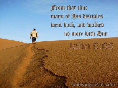 John 6:66 From That Time Many Of His Disciples Went Back (utmost)12:29