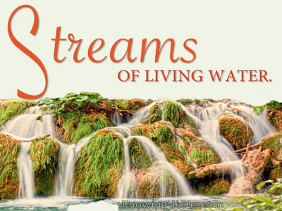 John 7:38  Streams Of Living Water Deep Within (orange)
