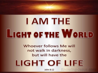 John 8:12 Jesus Is The Light Of The World (silver)