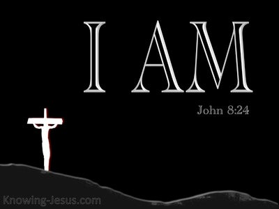John 8:24 Believe that I AM (black)