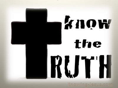 John 8:32 Know The Truth (beige)