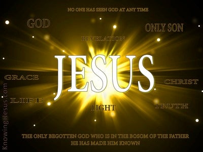 John 1:18 No One Seen God At Any Time (white)