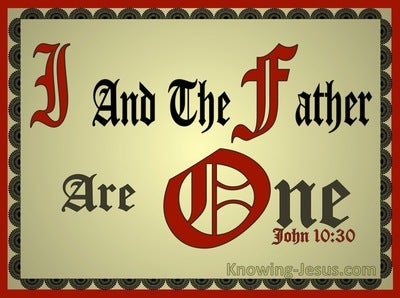 John 10:30 I And The Father Are One (maroon)