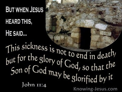 John 11:4 This Sickness Is Not To End In Death (brown)