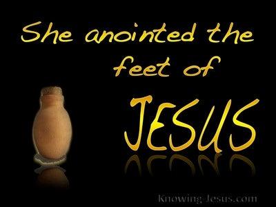 John 12:3 She Anointed The Feet Of Jesus (yellow)