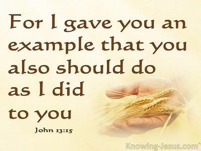 John 13:15 Do As I Did (yellow)