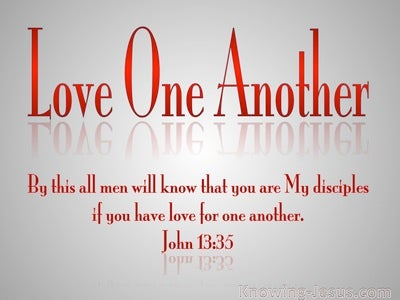 John 13:35 Love One Anothe (red)