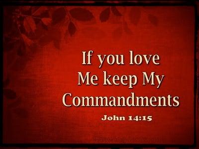 John 14:15 In You Love Me Keep My Commandments (gold)
