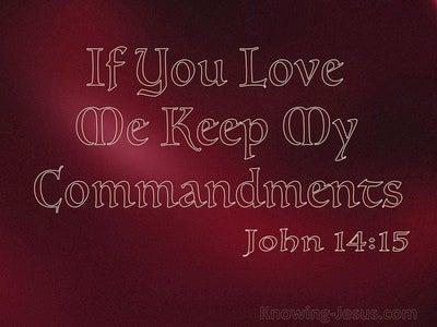 John 14:15 In You Love Me Keep My Commandments (red)
