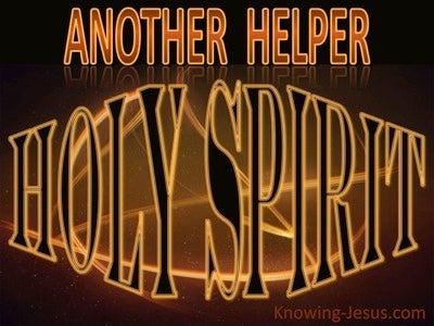 John 14:16 Another Helper (brown)