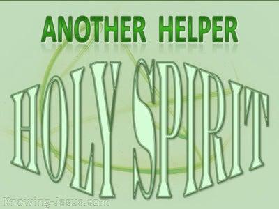 John 14:16 Another Helper (green)