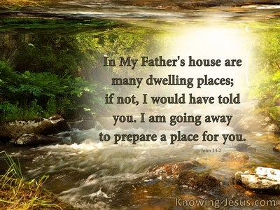 John 14:2 In My Father House Are Many Mansions (brown)