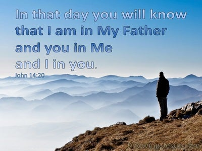 John 14:20 You In Me And I In You (blue)