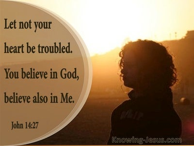John 14:27 Let Not Your Heart Be Troubled (beige)
