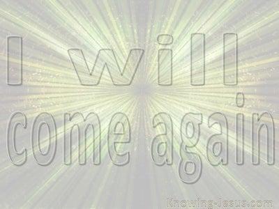 John 14:3 I Will Come Again (beige)