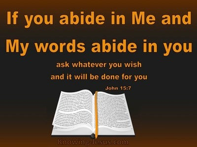 John 15:7 Abide In Me And I In You (brown)