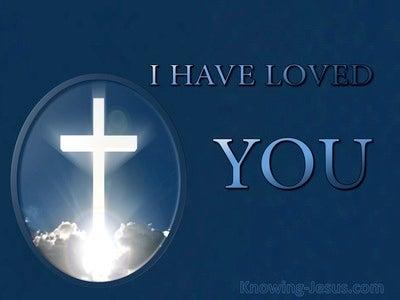 John 13:34 I Have Loved You (devotional)02:04 (navy)