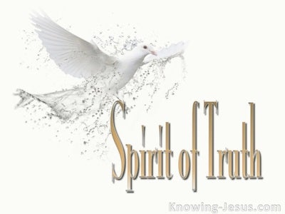 John 16:13 Spirit of Truth (white)