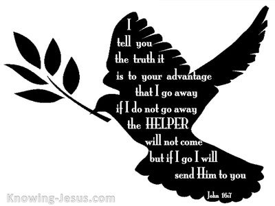 John 16:7 I Will Send The Helper To You (black)