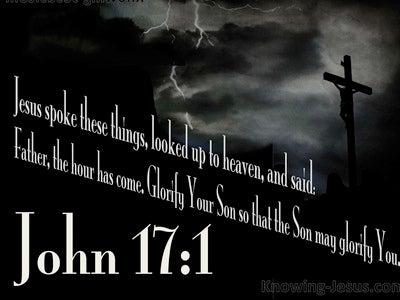 John 17:1 The Hour Has Come (white)