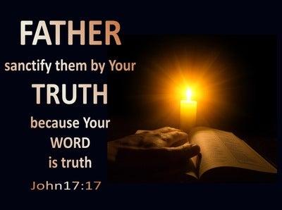 John 17:17 Sanctify Them By They Word (black)