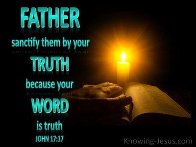John 17:17 Thy Word Is Truth (black)