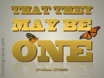 John 17:22 That They May Be One (gold)