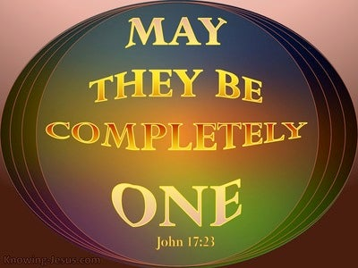 John 17:23 May They Be One As We Are One (brown)
