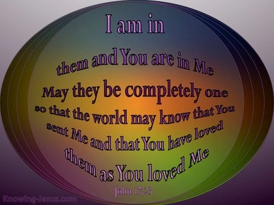 John 17:23 May They Be One As We Are One (purple)