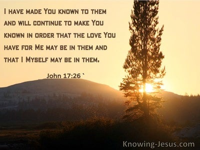 John 17:26 I Have Made You Known To Them (windows)11:06