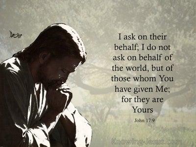 John 17:9 Jesus Prays On Behalf Of His Disciples (black)