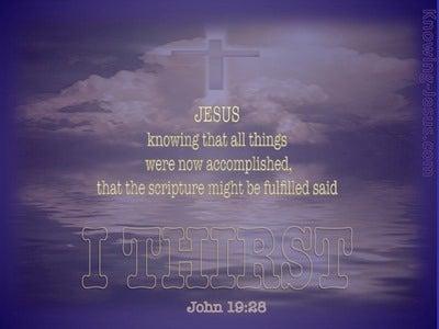 John 19:28 Jesus Said I Thirst (purple)