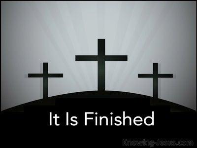 John 19:30 It Is Finished:Telestai (black)